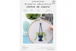"""Kit de broderie décorative French Kits """" Chaîne de coeurs"""""""