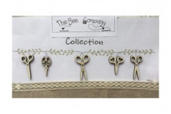 """Boutons bois """"Collection de ciseaux"""""""