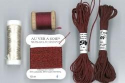 """Pack découverte Au Ver A Soie ,""""Soie Ovale / Soie de Paris """"Bordeaux"""