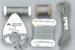 """Pack découverte Au Ver A Soie ,""""Soie Ovale / Soie de Paris """"gris"""