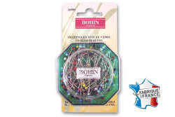 150 Épingles tête verre 30mm de Bohin