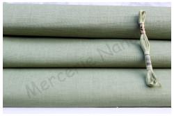 Toile de lin EDIMBURGH de Zweigart, coloris 6018 vert amande