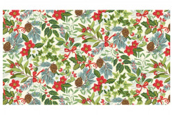 "Tissu Makower ""Yuletide Foliage Cream"""