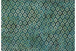 """tissu Bali Handpaints """"Losanges sur fond bleu grisé"""""""