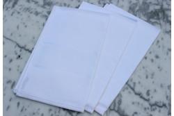 Lot de 3 Torchons à broder 100% coton 45x70cm blanc