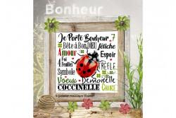 """Diagramme point de croix """" Porte Bonheur """""""