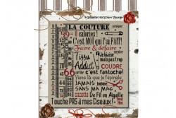 """Diagramme point de croix """" La Couture """""""