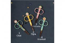 """Ciseaux """"cabinet de curiosité"""" 4 designs. de Bohin"""
