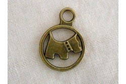 "Charms ""Chien scottish"""