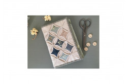 "Kit patchwork pochette ""Cathédrale Window beige"""