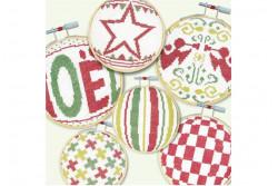 """Diagramme point de croix """"Boules de Noël N°4 """""""