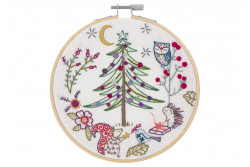 "Kit de broderie traditionnelle ""Noël en foret"""