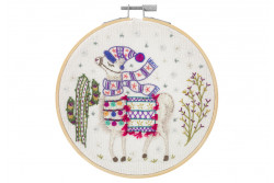 "Kit de broderie traditionnelle ""Mon beau Lama"""