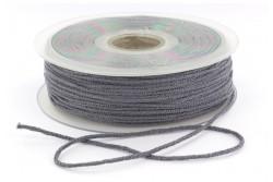 Cordon élastique rond super doux 2,5mm gris