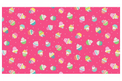 "Tissu Makower ""Daydream Cupcakes"" Roses"