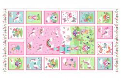"""Tissu Makower """"Daydream Panel"""""""