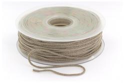 Cordon élastique rond super doux 2,5mm beige