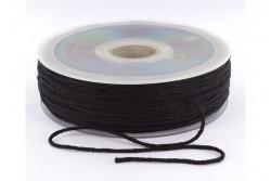 Cordon élastique rond super doux 2,5mm noir
