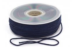 Cordon élastique rond super doux 2,5mm marine
