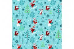 """Tissu Odile Bailloeul """"Winter Games"""" Les souris dansent"""