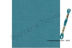 Toile de lin NEWCASTLE de Zweigart, coloris 6134 bleu turquoise