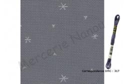 Toile Aïda de Zweigart 8 pts/cm, coloris 7459 sparkle gris /étoiles