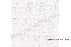 Toile lin BELFAST Zweigart, coloris 1111 Blanc irisée