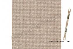 Etamine unifil MURANO de Zweigart, coloris 7211 beige irisé