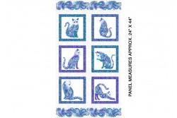 "Tissu patch de Benartex Cat-i-tude ""White multi panel"""