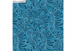 "Tissu patch de Benartex Cat-i-tude ""Teal"""