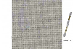 Etamine unifil LUGANA de Zweigart, coloris 7729 vintage gris