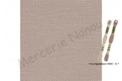 Toile de Lin CASHEL de Zweigart , coloris 306 sable