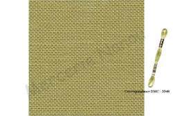 Toile de lin BELFAST de Zweigart, coloris 6123 vert absinthe