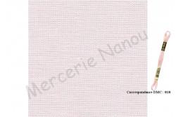 Toile de lin BELFAST de Zweigart, coloris 4115 perle de rose