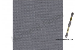 Toile de lin NEWCASTLE de Zweigart, coloris 7107 gris acier