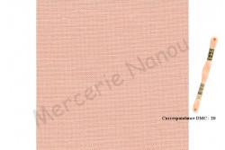 Toile de lin NEWCASTLE de Zweigart, coloris 4094 Pêche givrée