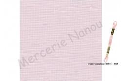 Toile de lin NEWCASTLE de Zweigart, coloris 4115 Perle de Rose