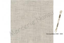 Toile de lin NEWCASTLE de Zweigart, coloris 770 beige clair