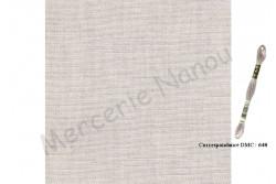 Toile de lin BERGEN de Zweigart, 18 fils/cm, coloris 52 naturel clair