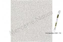 Etamine unifil LUGANA de Zweigart, coloris 7011 gris craie