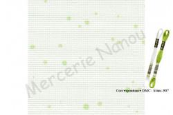 FEIN AIDA 7 pts/cm de Zweigart, coloris 1359 splash blanc bulle anis