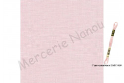 Toile de lin KINGSTON de Zweigart, coloris 4064 rose poudré