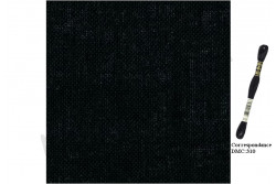 Toile de Lin CASHEL de Zweigart , coloris 720 noir