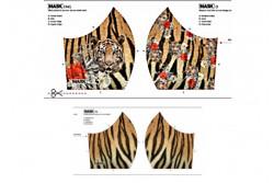 Kit pour fabriquer un masque, modèle Tigre