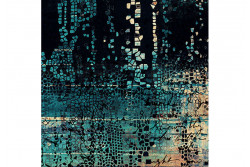 """Tissu Stof """"Fractured Mosaic - Indigo"""" de Tim Holtz"""
