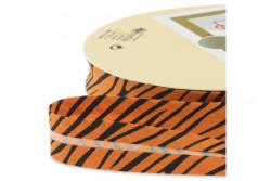 """Biais pré-plié 18mm motif """"Tigre"""""""
