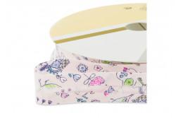 """Biais pré-plié 18mm à motifs """"papillons et fleurs"""""""
