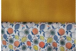 """Kit pour fabriquer un """"Sac à vrac imperméable"""" Citrons Oranges"""