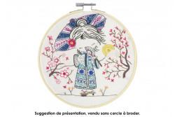 """Kit de broderie traditionnelle """"quand Salomé voyage au japon"""""""