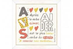 """Diagramme au point de croix Lilipoints """" Aider"""""""